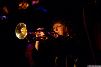 Pam Fleming, trumpet and flugelhorn player for Hazmat Modine
