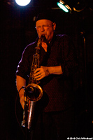 Steve Elson, saxophone player for Hazmat Modine