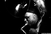 Joe Daley, tuba player for Hazmat Modine