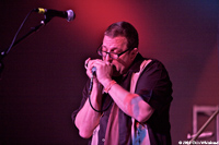 Bill Barrett, harmonica player for Hazmat Modine