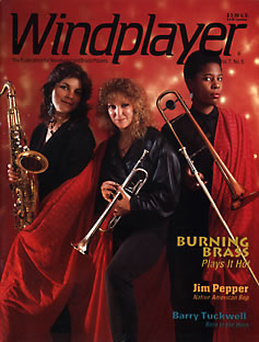 Burning Brass on the cover of Windplayer magazine.