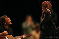 Wade Schuman and Rachelle Garniez